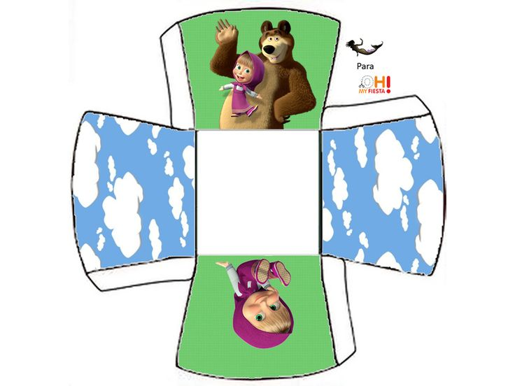 Masha and the Bear: Free Printable Boxes. | Oh My Fiesta! in english