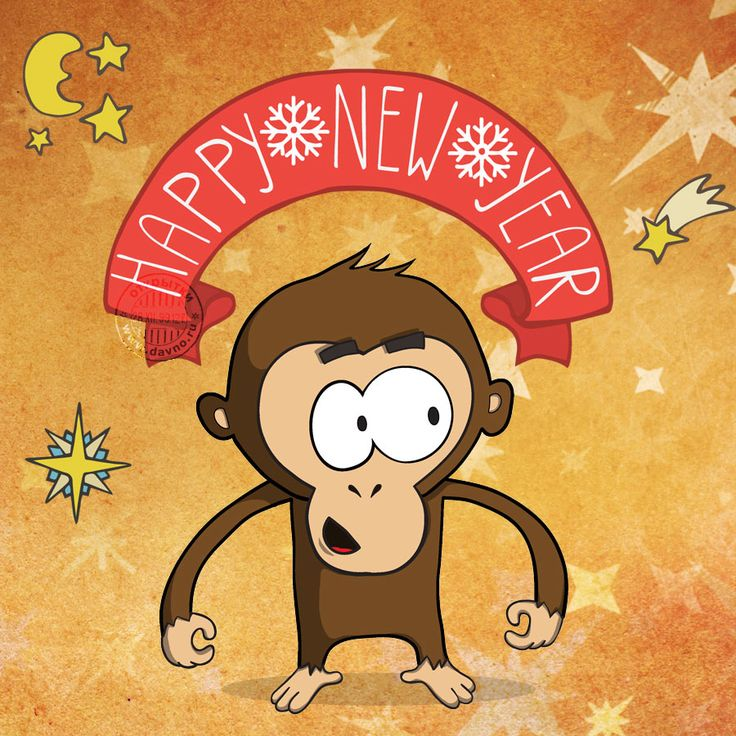 Happy New Year 2016 of Monkey