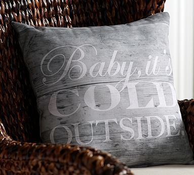 Baby Its Cold Outside Indoor/Outdoor Pillow #potterybarn