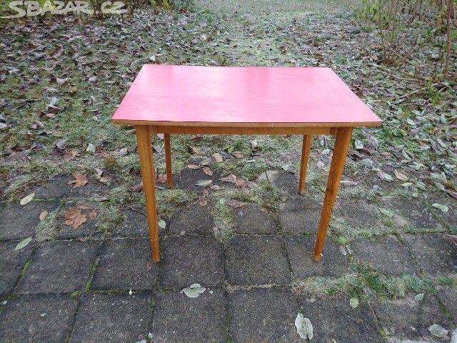 Retro starý stůl stolek 70. léta - obrázek číslo 1