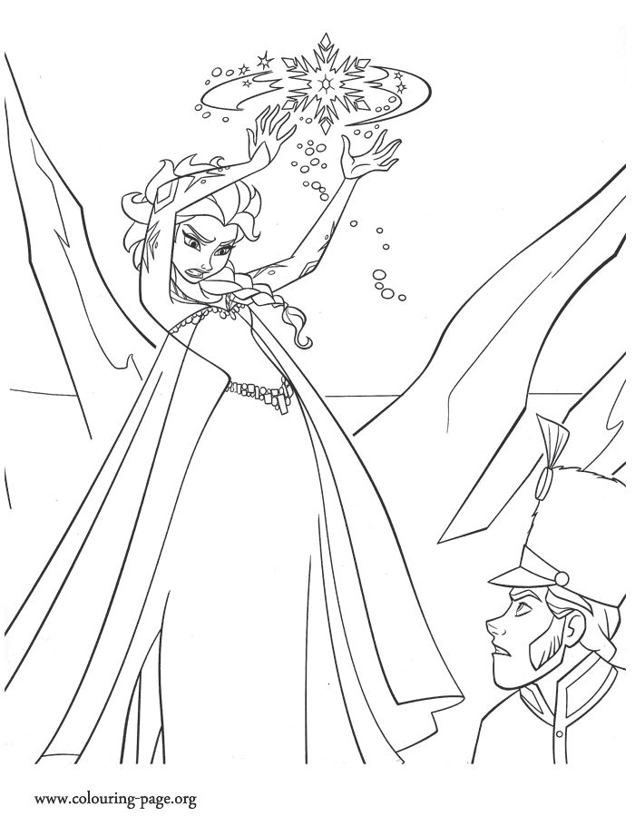 Elsa Angry With Hans Coloring Page