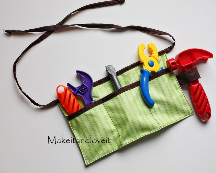 It's tough work being handy. How about making it easier on the little guys and putting all of their tools into a tool belt…. Perfectly sized for them. Now they can get to work. And have all their tools, right at their fingertips. **The directions are sized to fit on my 20 month old. …
