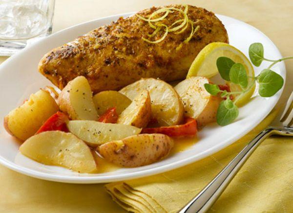 Filipino Pan Fried Rosemary Chicken with Potato Wedges Recipe