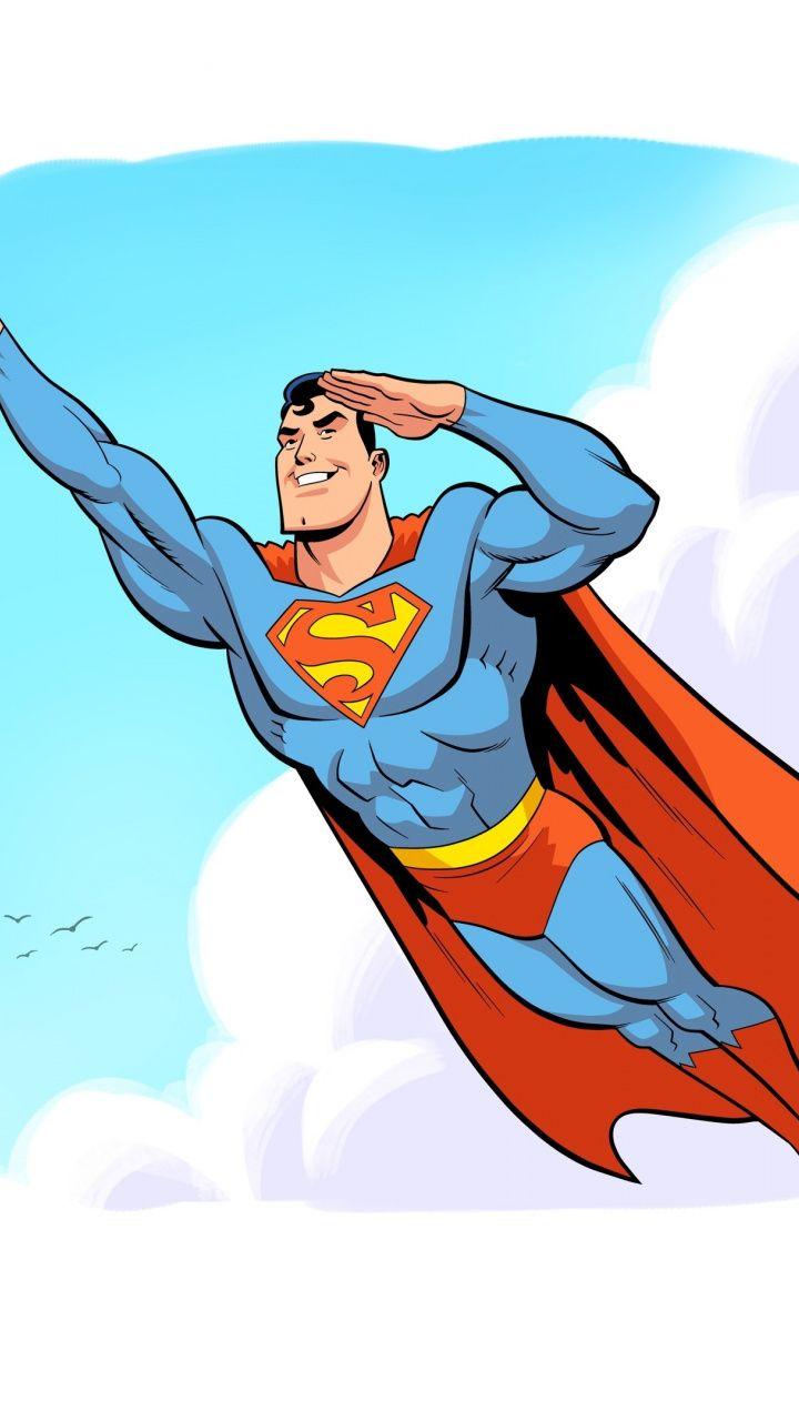 superman flying up comic