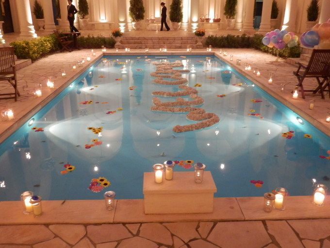 Pool Wedding Decoration Ideas: 61 Best Swimming Pool Decorations Images On Pinterest