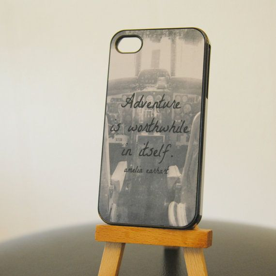 Amelia Earhart Iphone Case Adventure Quote Vintage Airplane Photography Cockpit black white Aviation Air Force Pilot Phone Cover on Etsy, $35.00