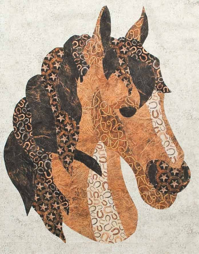10 Easy Steps To Assemble A Horse Applique Using Wild And Free Fabrics Horse Quilt Applique Quilt Patterns Western Quilts