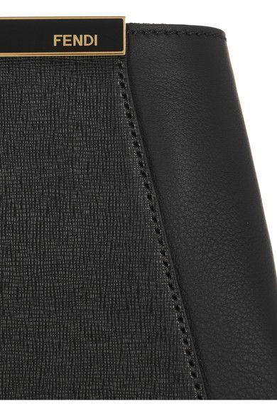 Fendi - 2jours Large Textured-leather Shopper - Black - one size