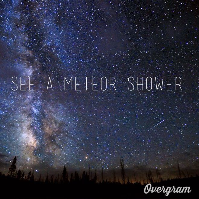 Bucket List: see a meteor shower