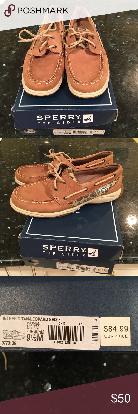 Spectrum Top Sider Tan Leopard sequin boat shoes Spectrum Top Sider Tan Leopard sequin boat shoes.  9.5.  Only worn 2x. Sperry Top-Sider Shoes Flats & Loafers