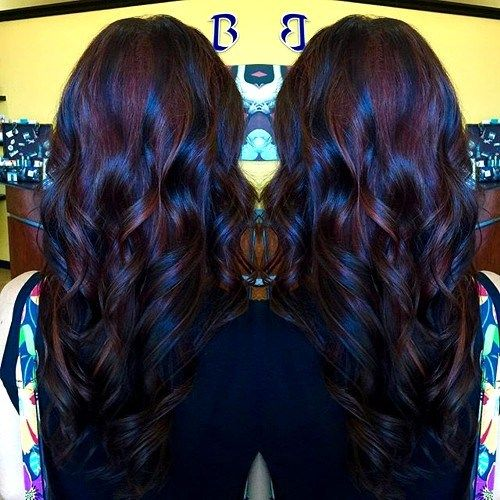 brown and red hair styles best 25 burgundy hair highlights ideas on 9253 | 5a9253d586b145446682e4a17d694d7e black and burgundy hair black cherry hair
