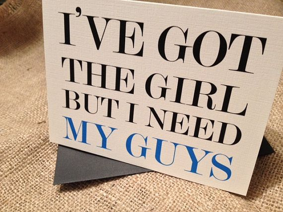 I've Got The Girl But I Need My Guys Cards with Envelopes, for Groomsmen, Groomsman, Best Man, Ring Bearer, Wedding Party - Set of 10