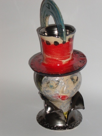 Michaela Kloeckner     Flamenco Dancer - 2011/2012     Wheel thrown and assembled ceramic vessel, low fired     37 x 17 cm