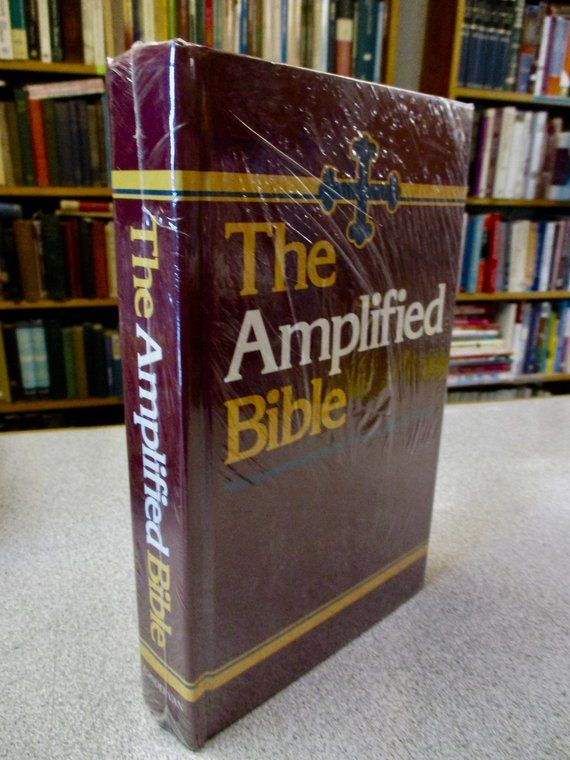 Vintage 1987 AMPLIFIED Bible Classic Edition HARDCOVER Indexed New