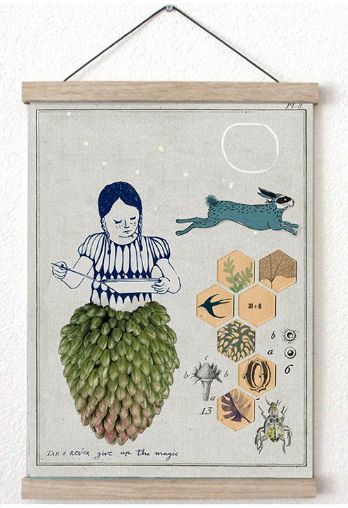 never give up the magic ••• limited edition giclée prints by Dutch illustrator ••• print for book lovers