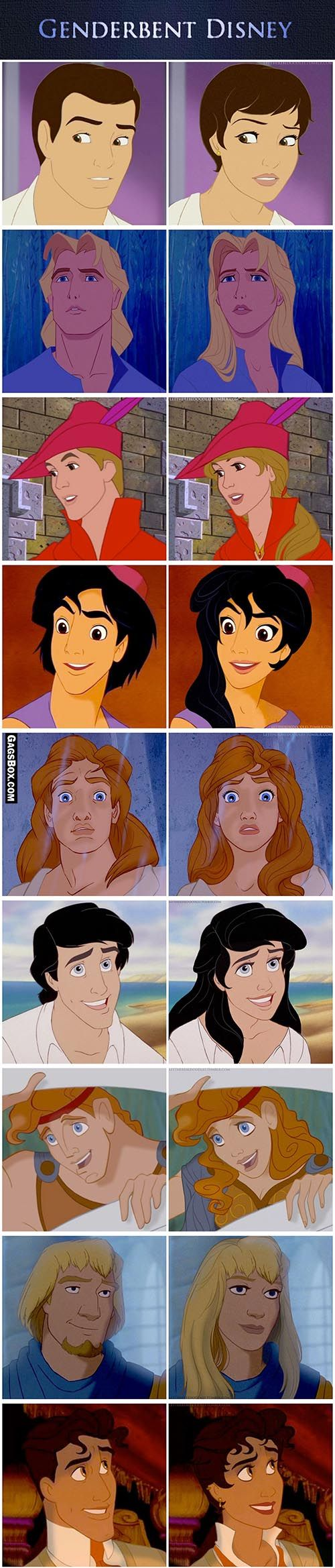 Disney Characters Male To Females.