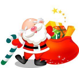 Pai Natal com saco de doces