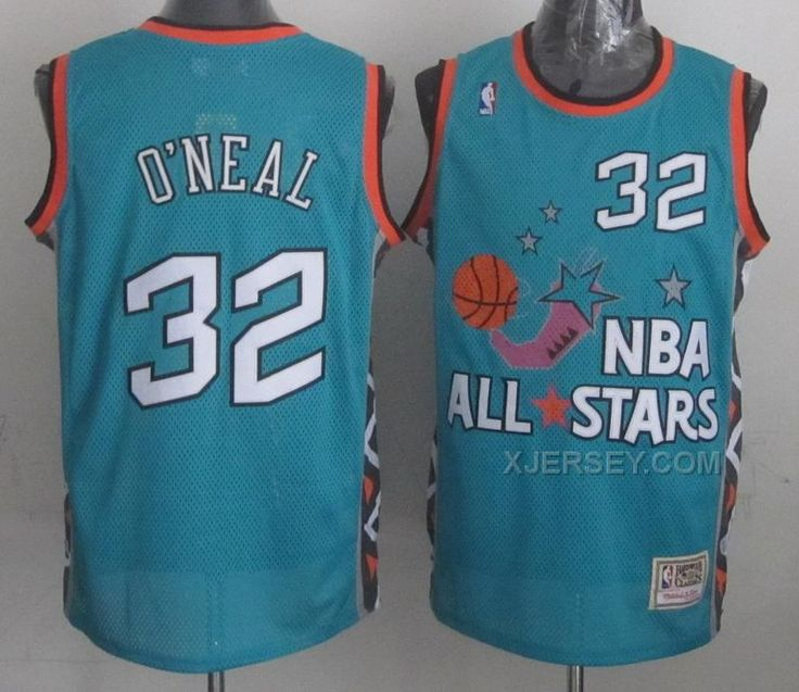 5d2015b2e4b8 Mens NBA 1996 All-Star Shaquille Oneal Green Swingman Throwback Jersey ...