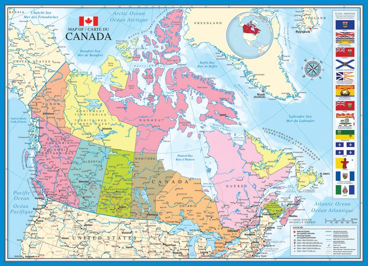 Map of Canada. 1000 pieces