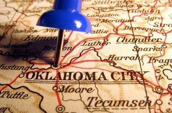 Oklahoma City pin/map