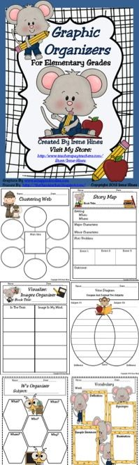 HUNDREDS OF USES... GRAPHIC ORGANIZERS!: This collection of ready-to-use graphic…