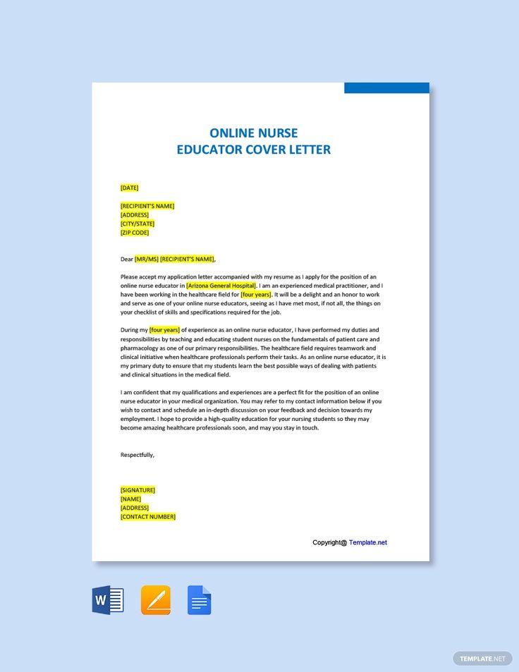 23++ Sample nursing instructor cover letter inspirations