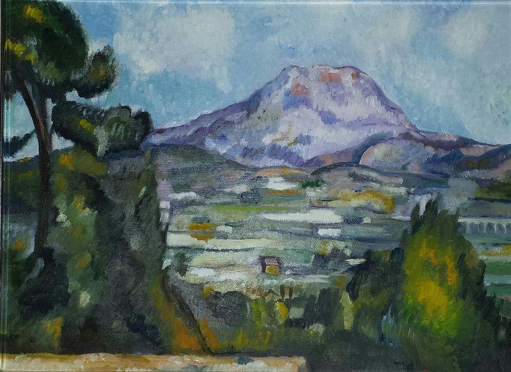 """Cezanne - """"La montagna Saint-Victoire"""" - copia d'autore - olio su tela - misure: 40 x 30 cm. - anno: 2008. #art #cezanne #artwork"""