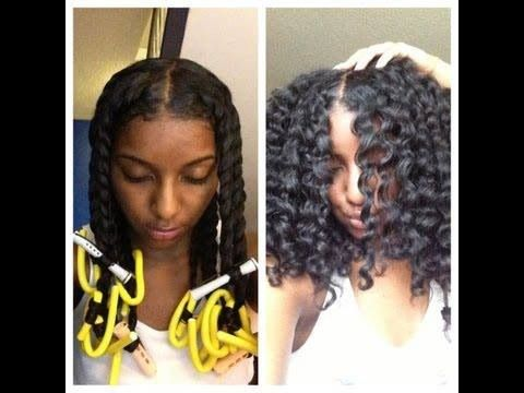 Natural hair: Twist Out, perm rods and flexi rods: Twists Outs, Hair