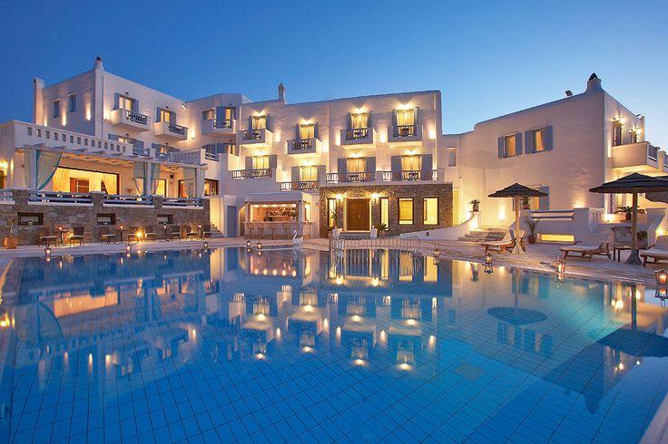 Grand Beach Hotel in Mykonos, Greece