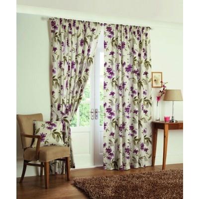 Kerena Ready Made Curtains Aubergine