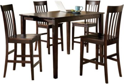 $225 clearance price, purchase for the chairs and table can go down stairs.Ashley Hyland Counter Table & 4 Stools