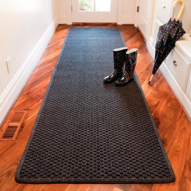 THIN OPTION FOR FRONT DOOR IN GRAY OR CHARCOAL - Aqua Trap Entry Mat