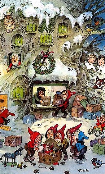 335 best elves and gnomes and pixies images on pinterest elves christmas cards and vintage. Black Bedroom Furniture Sets. Home Design Ideas