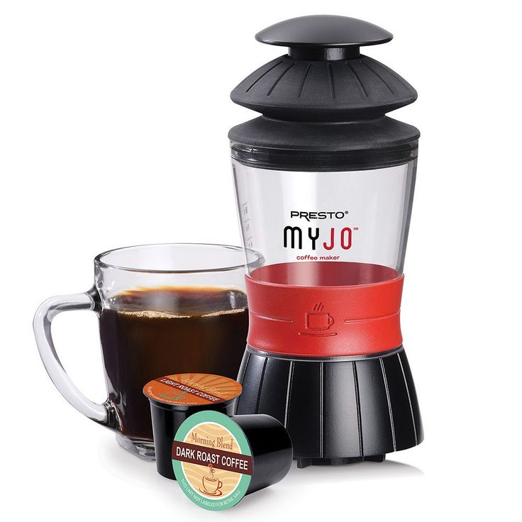 Presto MyJo Single-Serve Coffee Maker, Black