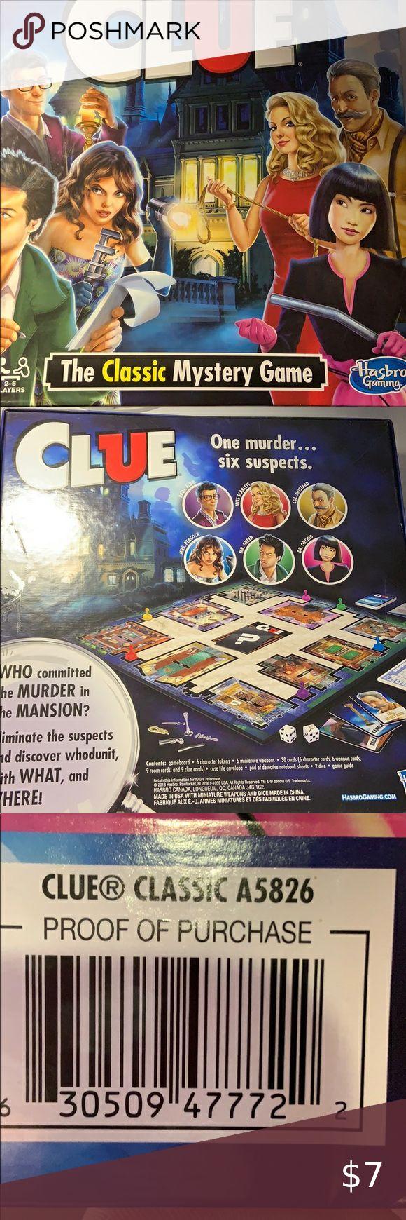 Classic Clue Board Game in 2020 Clue board game, Board
