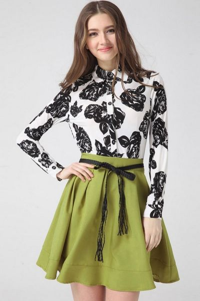 Women's Fashion Clothing #Flower A-line #Shirt #Dress - OASAP.com
