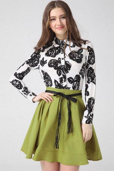 Women's Fashion Clothing #Flower A-line #Shirt #Dress - OASAP.com