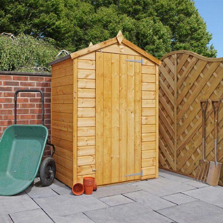 Best Mercia Shiplap Single Door Windowless Garden Storage Shed 400 x 300