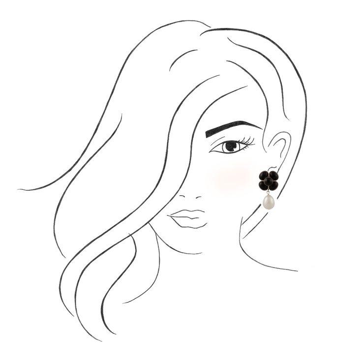 Clip-Ohrringe in schwarz-weiß sind ein eleganter Eyecatcher!