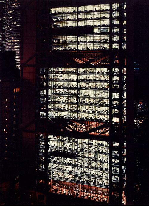 Norman Fosters Hong Kong Shanghai Bank building in Hong Kong. It's an icon and takes my breath away