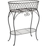 Black Oval Plant Stand