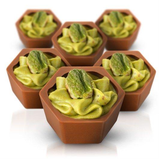 Pistachio Praline Crunch Chocolates #HotelChocolat