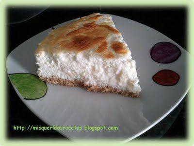 """Mis queridas recetas: Tarta de queso con base de """"galleta"""" Dukan (sin tolerados)"""