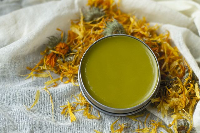 calendula salve. I have a bunch made for us already, and have saved and dried calendula flowers all summer to make more for gifting!