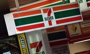 7-Eleven corporate signage is seen in Melbourne.