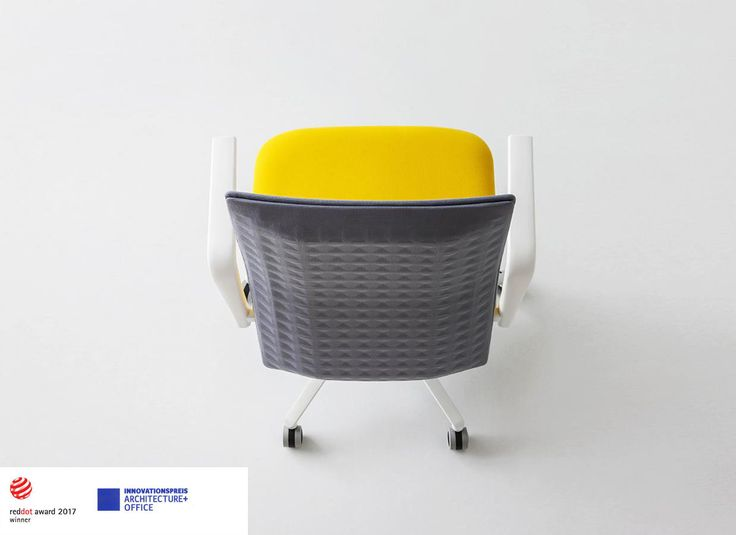 """Minimalist and functional: the key feature of the Elodie collection is its brand new sound-absorbent backrests. These backrests are made with an innovative """"skeletal"""" double-shell structure, covered with coupled and thermoformed """"felt-fabric"""" material: in this way, Elodie chair absorbs and reduces sound waves. Design by Marc Sadler. Elodie has been awarded with the #RedDotAward 2017 and #Innovationspreis Architecture+Office.  www.gaber.it #designchair #soundabsorbingsystem"""