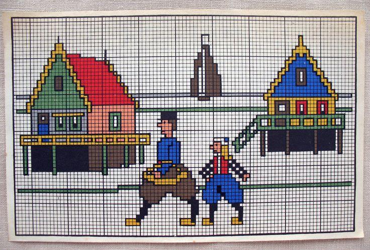 kruissteekontwerp+zuiderzee.jpg (1600×1085) #NoordHolland #Marken