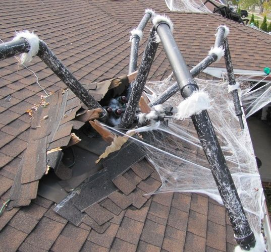 2015 halloween infestation spider busting through roof halloween forum