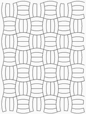 Modern Basket Weave Curved
