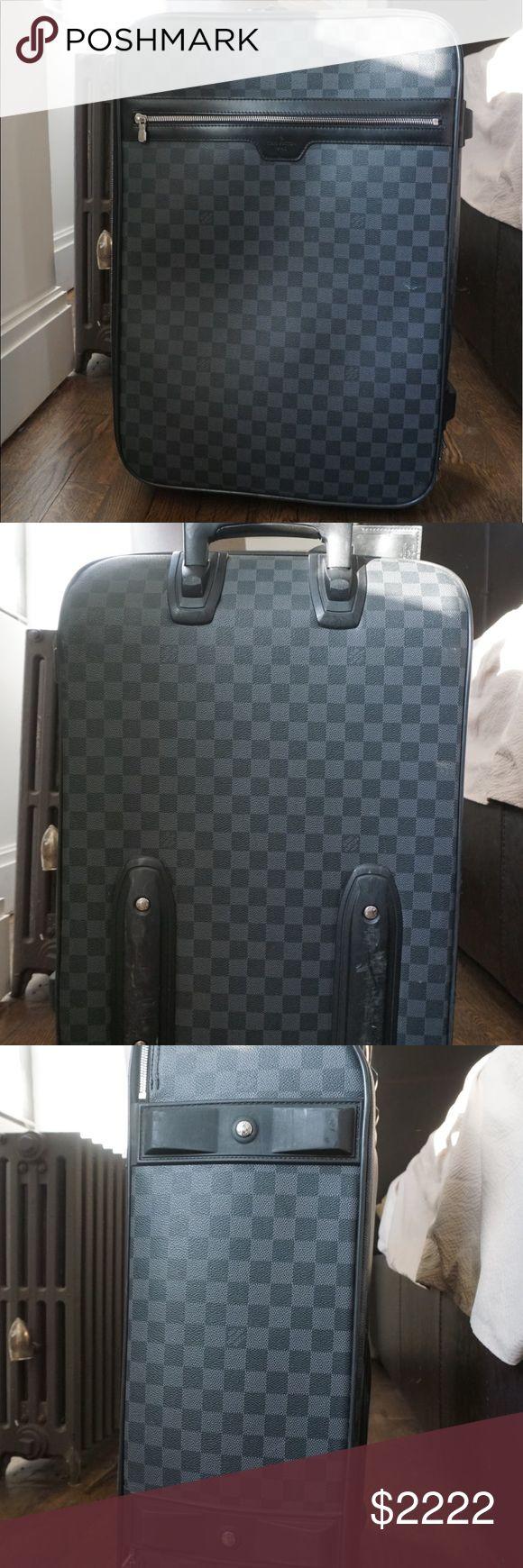 AUTHENTIC Louis Volition LV Damier Graphite Pegase rolling cabin luggage original Louis Vuitton Bags Travel Bags